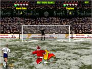 Santa penalty kick world cup