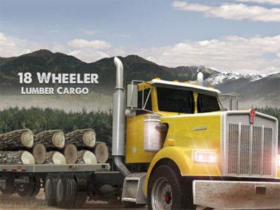 18 Wheeler Lumber Cargo